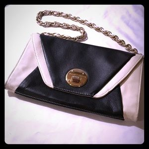 Elliott Lucca Purse, Black, White, Gold